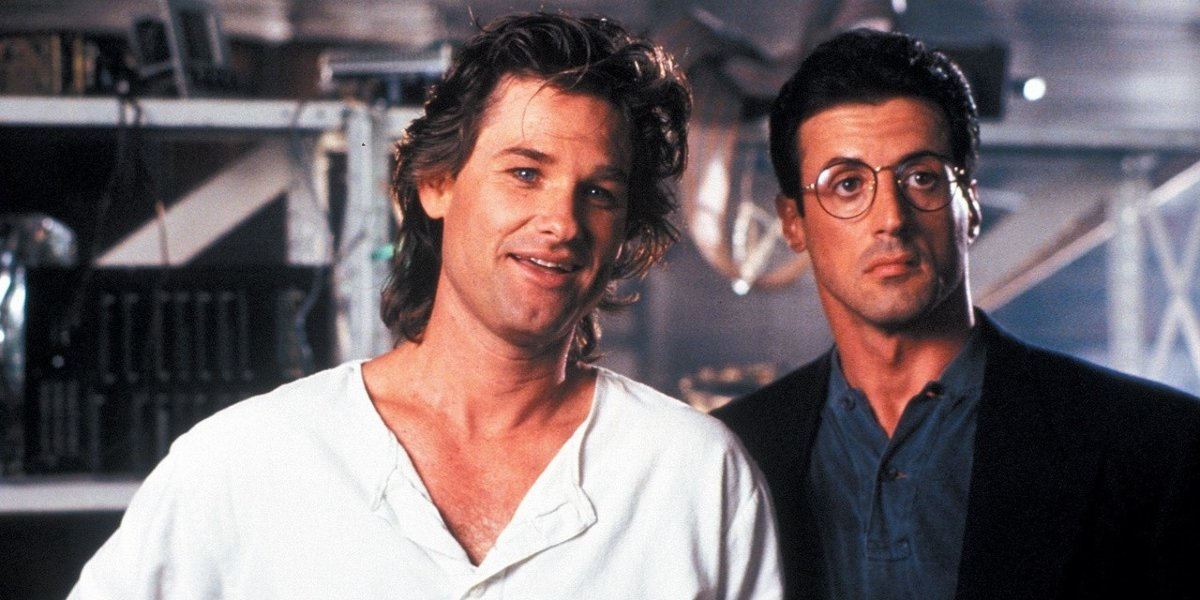 Kurt Russell and Sylvester Stallone in Tango and Cash