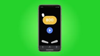 Hidden pinball app from Google on iPhone X in a banner