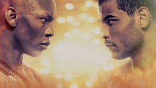 UFC 253 Adesanya vs. Costa Faceoff Promotional image