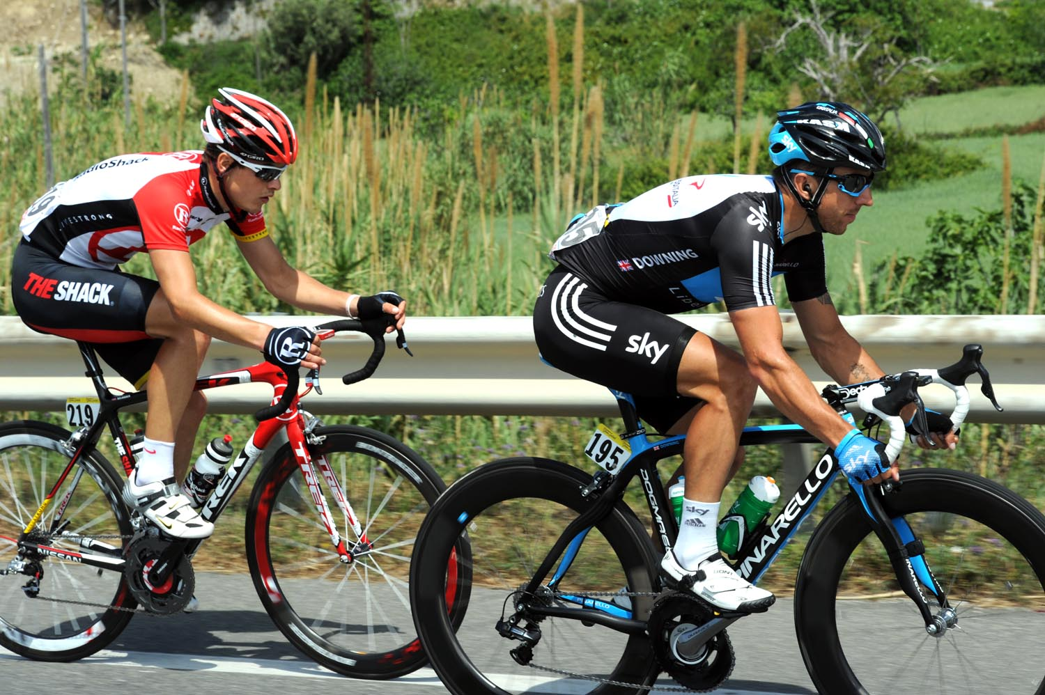 Russell Downing and Bjorn Selander, Giro d