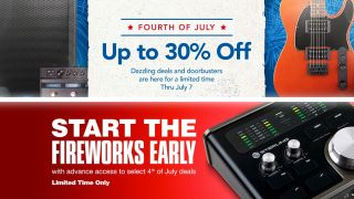 Start your Independence Day weekend with a bang, as Musician's Friend and Guitar Center reveal their 4th of July sales