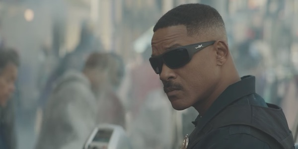 Will Smith in the street for Bright.