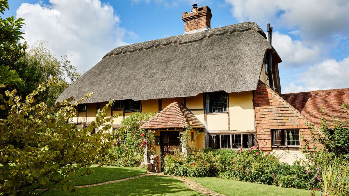 This idyllic 16th-century English cottage has been beautifully restored – and makes the perfect family home