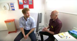 Prince Harry getting an HIV test
