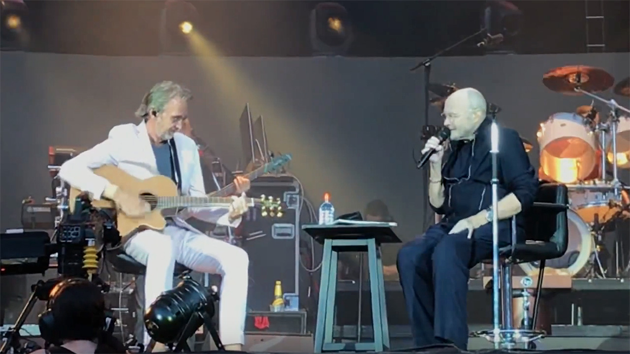 Mike Rutherford joins Phil Collins onstage in Berlin for Follow You Follow Me | Louder