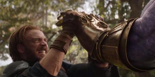 Chris Evans as Cap with Thanos