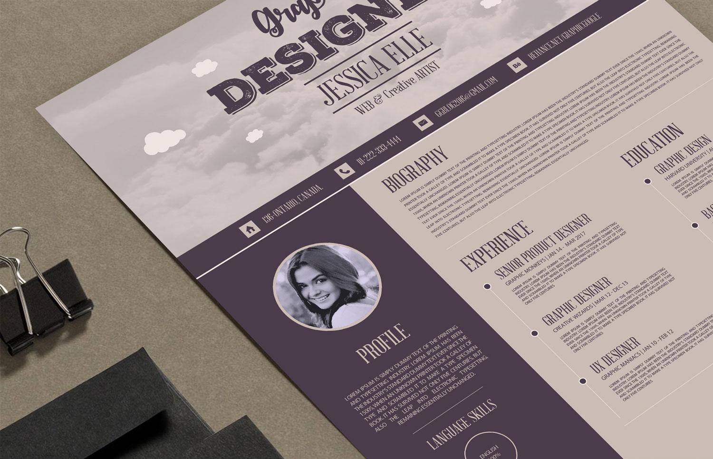 creative vintage resume