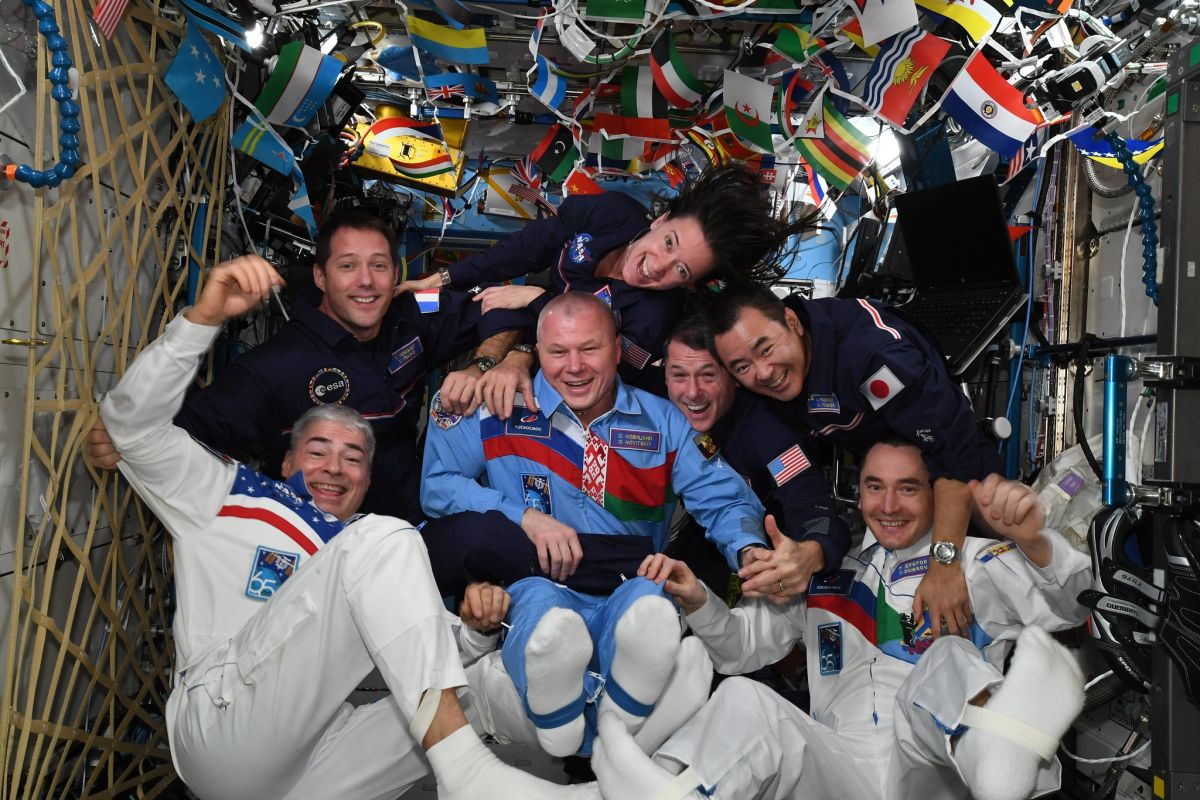 Astronauts are celebrating their own Summer Olympics in space (satellites, too)