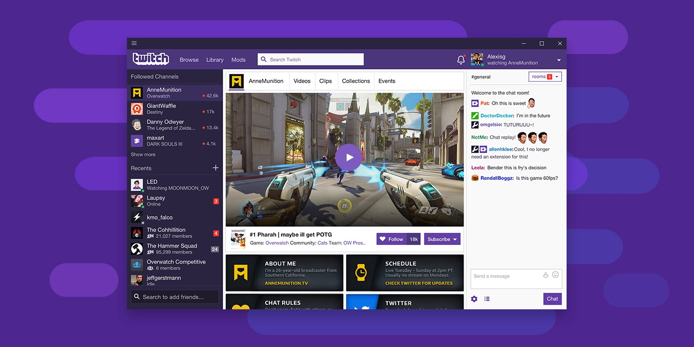 Twitch declares war on discord with the full launch of the twitch twitch declares war on discord with the full launch of the twitch desktop app pc gamer stopboris Choice Image