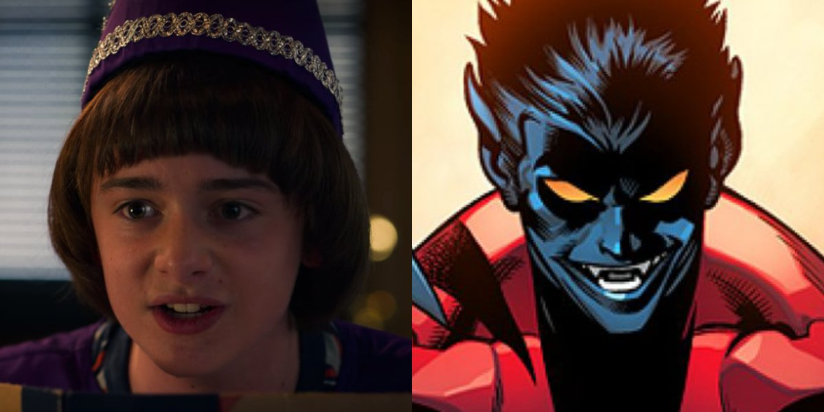Stranger Things' Noah Schnapp and Nightcrawler from X-Men