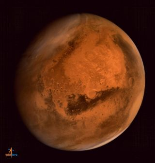 Mars Image Captured by India's Mars Orbiter Mission Probe