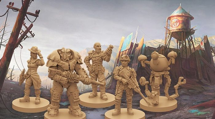 Be a Mister Handy, the Lone Gunslinger in Fallout board game expansion New California