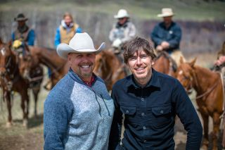 Simon with cattle rancher Rich Roth
