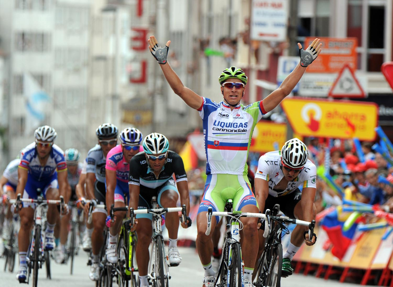 Peter Sagan wins, Vuelta a Espana 2011, stage 12