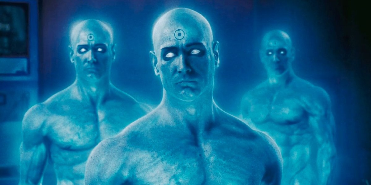 Billy Crudup as Dr. Manhattan in Watchmen