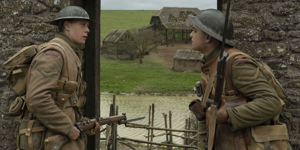 The epic barn scene in 1917 with George Mackay