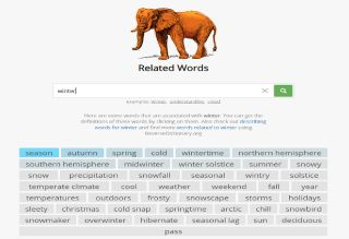 Related words screenshot
