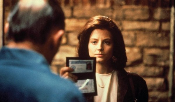 The Silence of the Lambs Clarice Starling shows her ID to Lecter