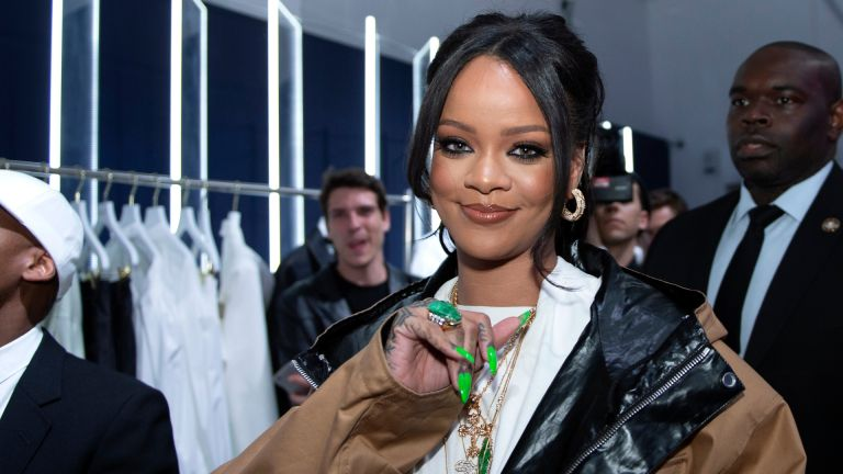 Rihanna attends the Fenty Exclusive Preview on May 23, 2019 in Paris, France