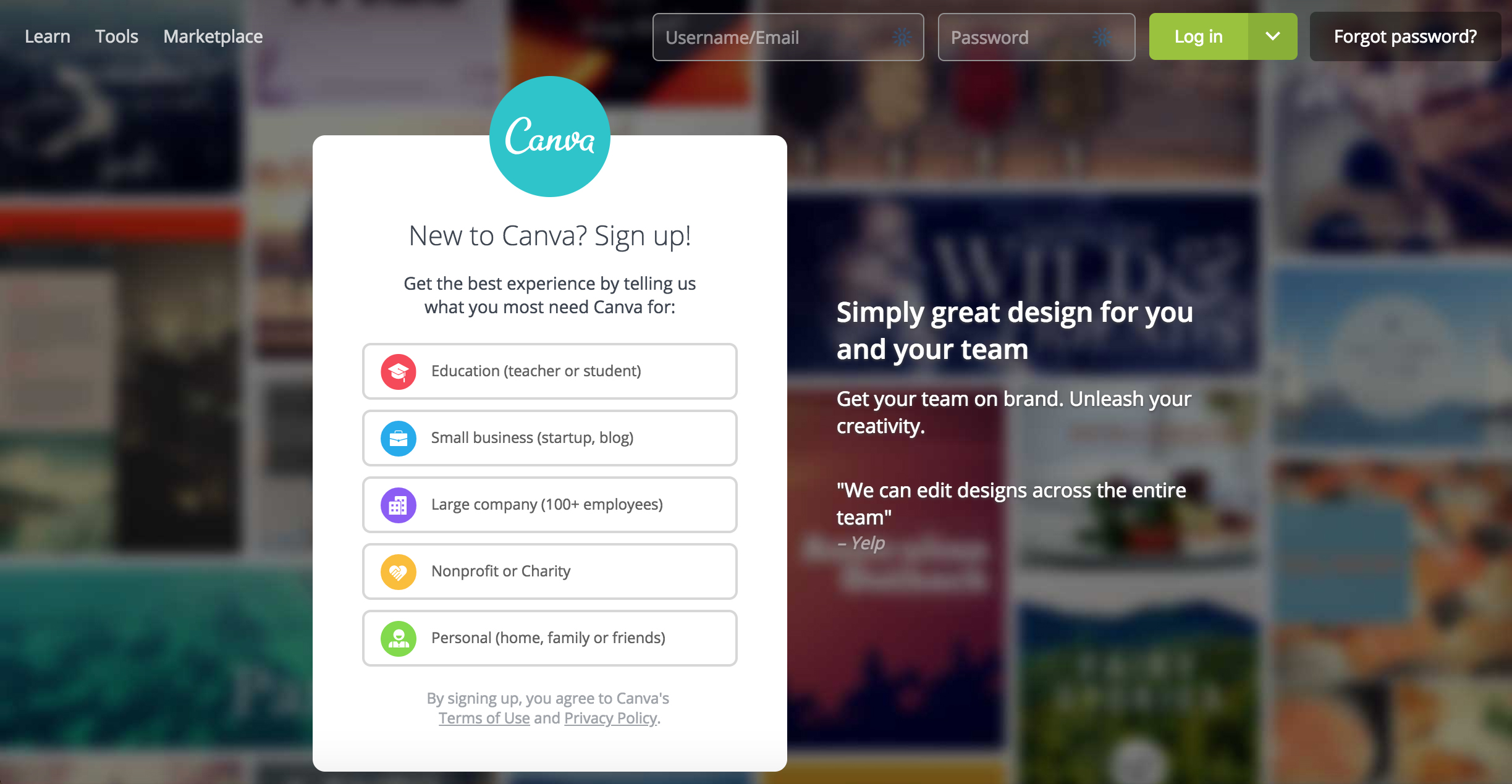 Canva logo design tool