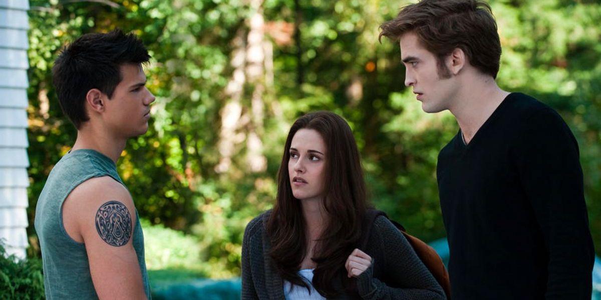 Taylor Lautner, Kristen Stewart and Robert Pattinson in Twilight Saga: Eclipse