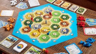 Catan board game on table