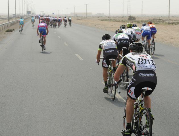 Crosswinds, Tour of Qatar 2011, stage three