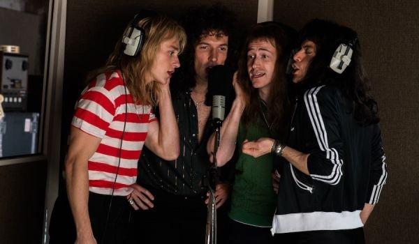 Queen recording Bohemian Rhapsody in the movie