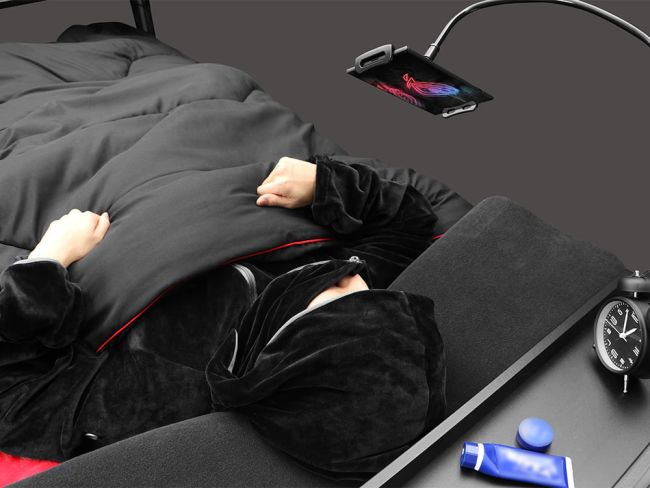 This Japanese Gaming Bed is Made for The Couch Potato