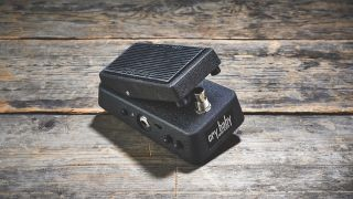 Best wah pedals 2019: Dunlop Cry Baby Mini 535Q sat on wooden floorboards
