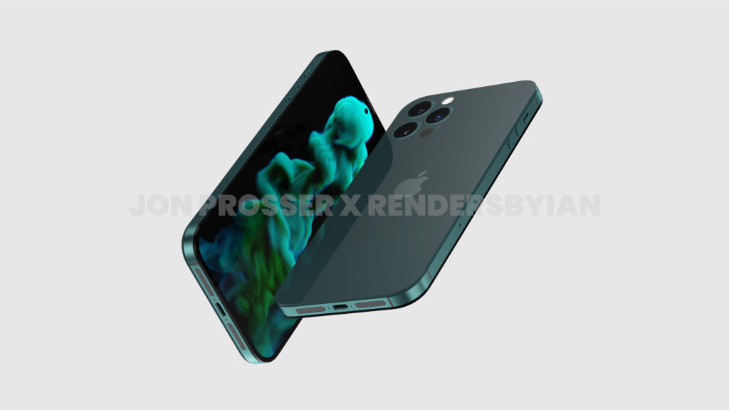 An unofficial render showing the possible design of the iPhone 14 Pro Max