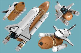 lego ideas space shuttle saturn v scale