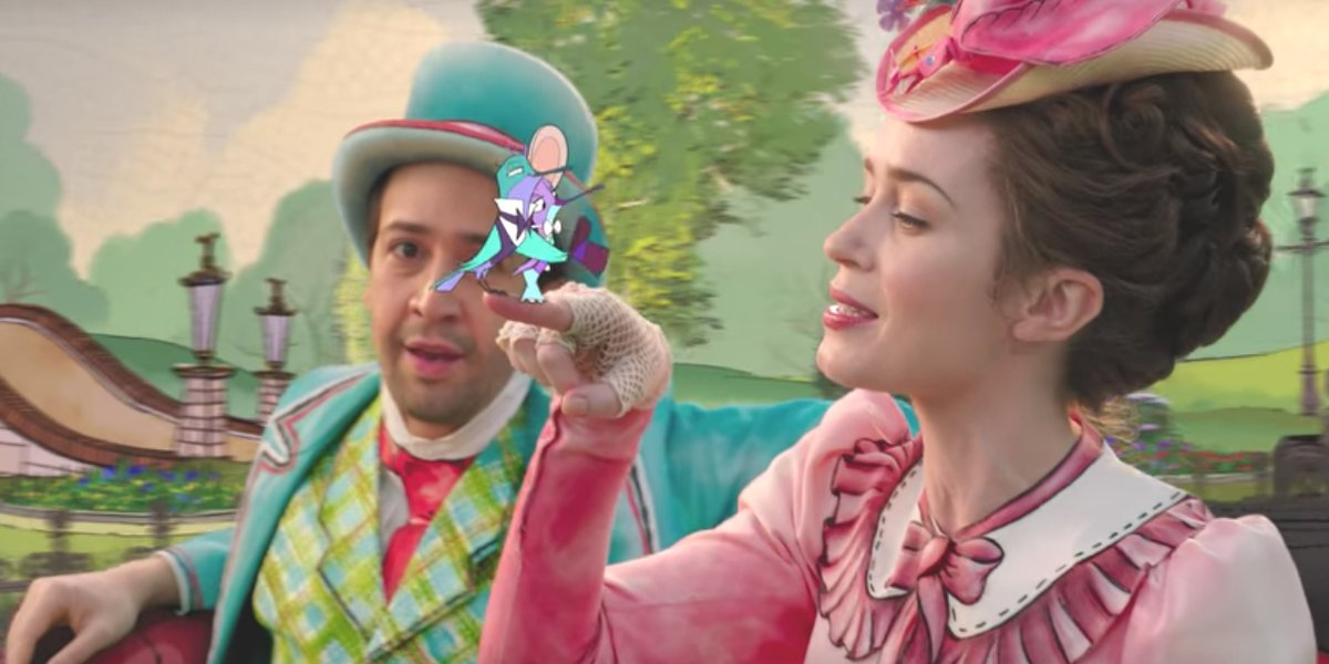 Lin-Manuel Miranda and Emily Blunt in Mary Poppins Returns