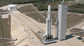 SpaceX Falcon Heavy Illustration