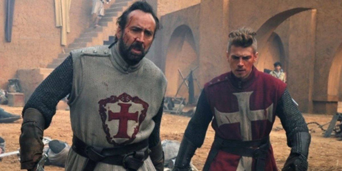 Nicolas Cage and Hayden Christensen in Outcast