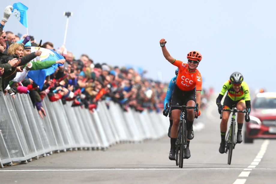 Marianne Vos wins stage two and the overall classification in the Tour de Yorkshire Women's Race 2019