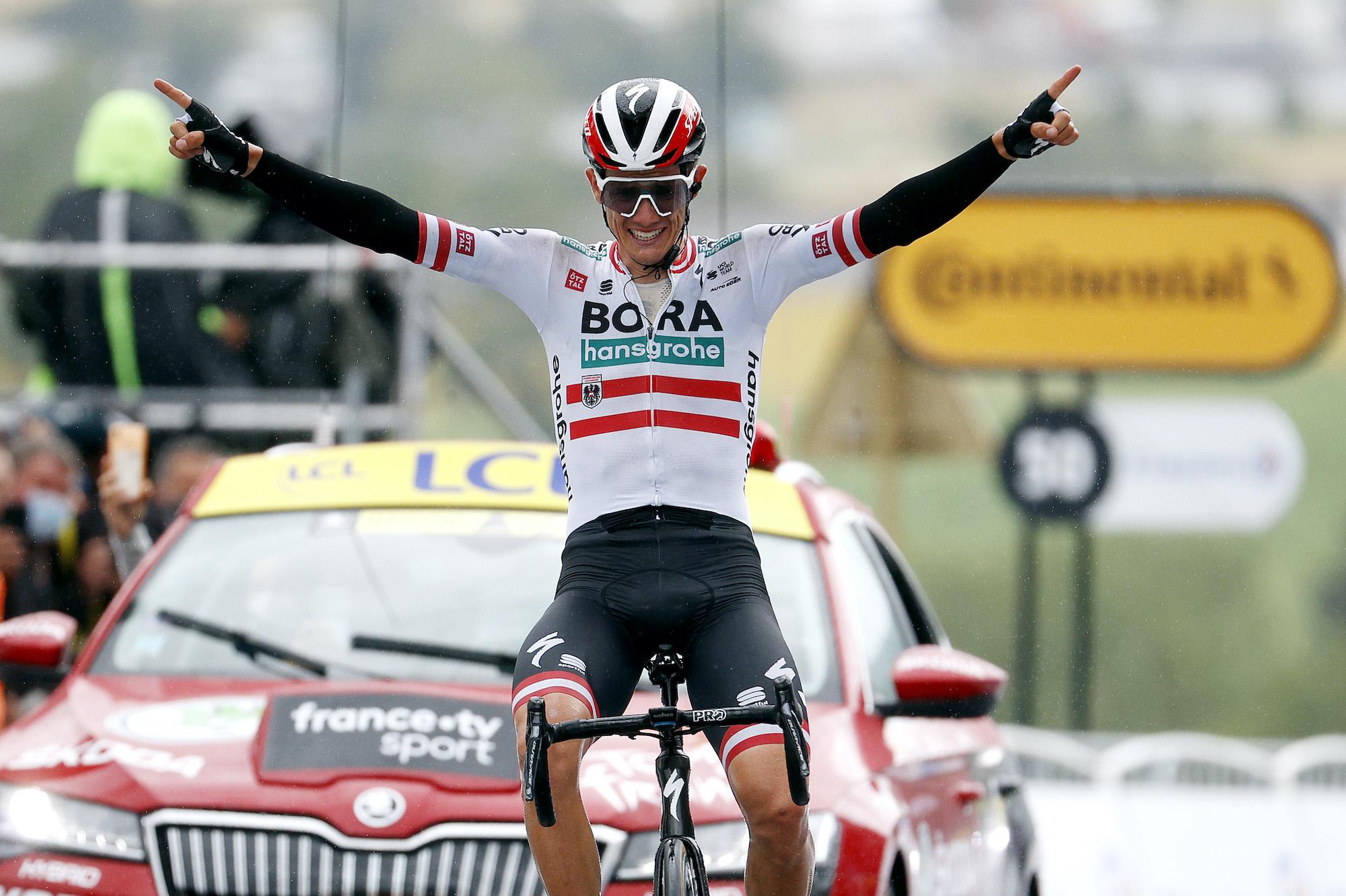 Patrick Konrad wins stage 16 of the 2021 Tour de France