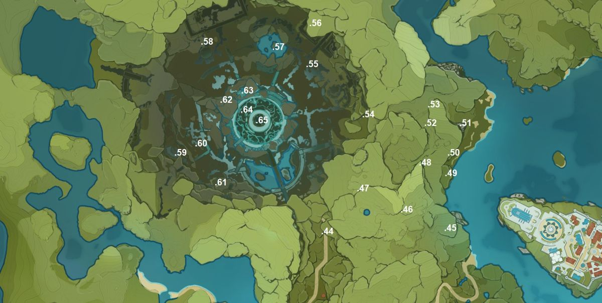 Genshin Impact Map How To Find All Genshin Impact Anemoculus Locations Pc Gamer