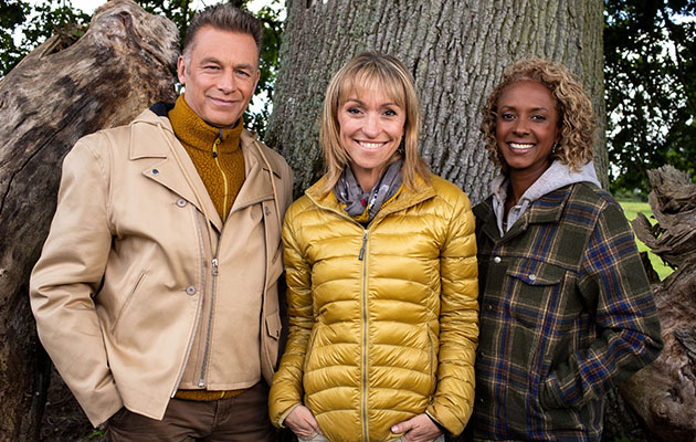 Chris with Winterwatch co-hosts Michaela Strachan and Gillian Burke