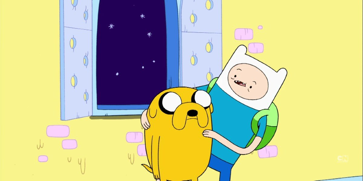 Finn the Human and Jake the Dog in Adventure Time