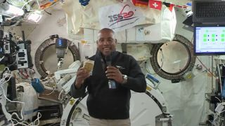 Japanese and American food are on the space station's holiday menu.