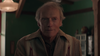 Mike Milo (Clint Eastwood) smiles in a scene from 'Cry Macho'