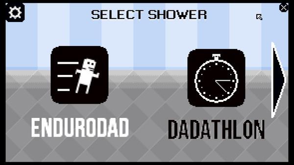 Shower with your dad simulator, mode select. Enduradad or Dadathalon.