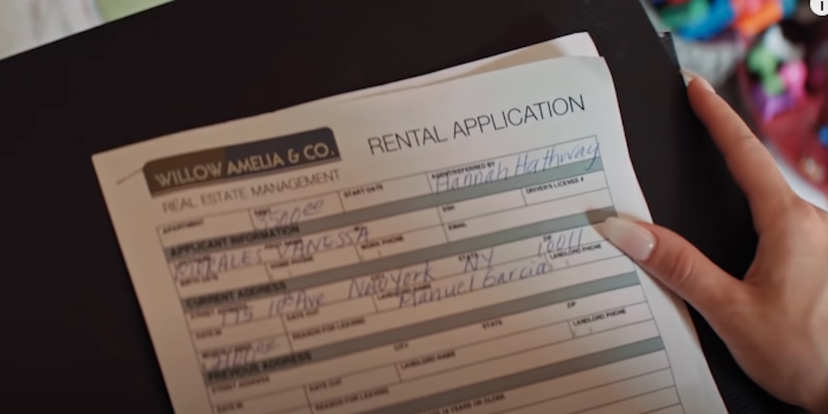 In The Heights easter egg, Jon M. Chu daughter name on rental application, Willow Amelia