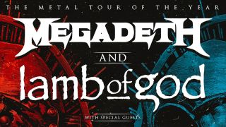 Megadeth and Lamb Of God tour poster