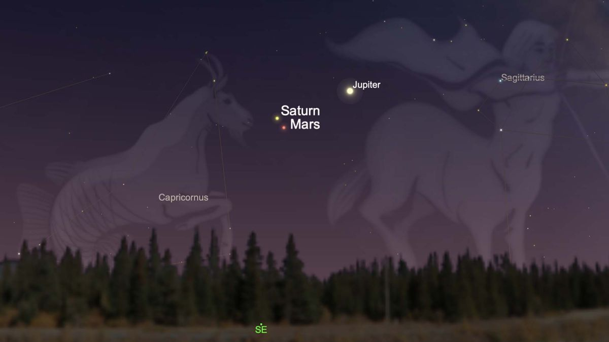 See Mars and Saturn tango in the predawn sky Tuesday. Here's where to look.