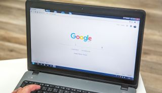 The Google Chrome browser displayed on the screen of a Windows laptop.