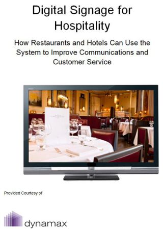 Dynamax Launches New White Paper: 'Digital Signage for Hospitality'