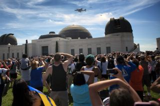 Endeavour over Griffith Observatory, Los Angeles #2