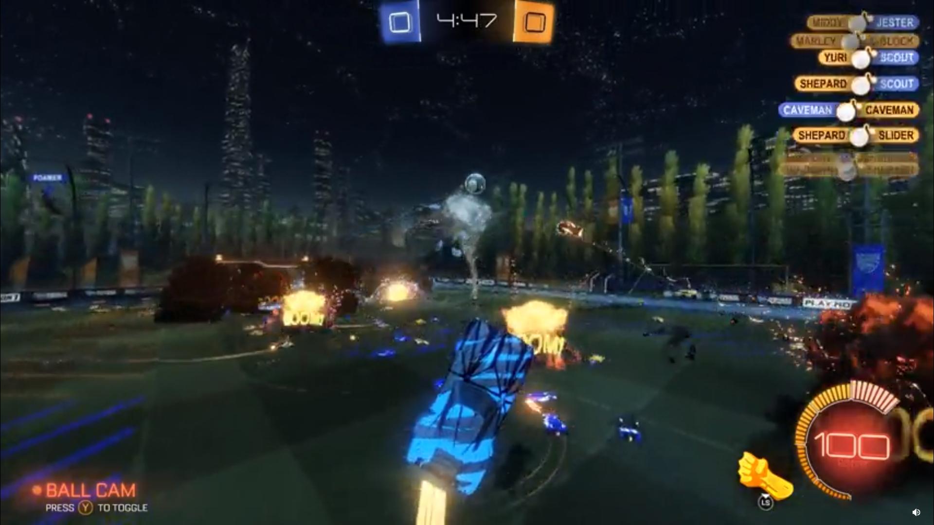 Mod turns Rocket League into a tornado-filled 120-car war